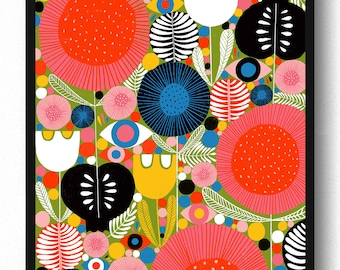 Eyes in the Garden Print - Lisa Congdon
