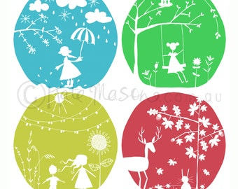 Seasons in colour ART PRINT