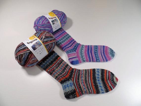 Regia Design Line Sock Knitting Pattern for Men /& Women