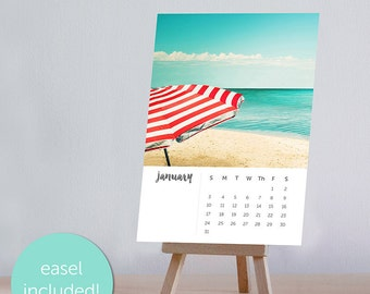 2018 calendar photography beach nautical desk calendar with easel 4x6 5x7 desk calendar fine art photography beach calendar ocean mini 2018