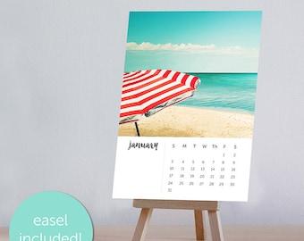 2018 photographie plage nautique bureau calendrier avec chevalet 4 x 6 5 x 7 Bureau calendrier fine art photographie plage calendrier océan mini 2018