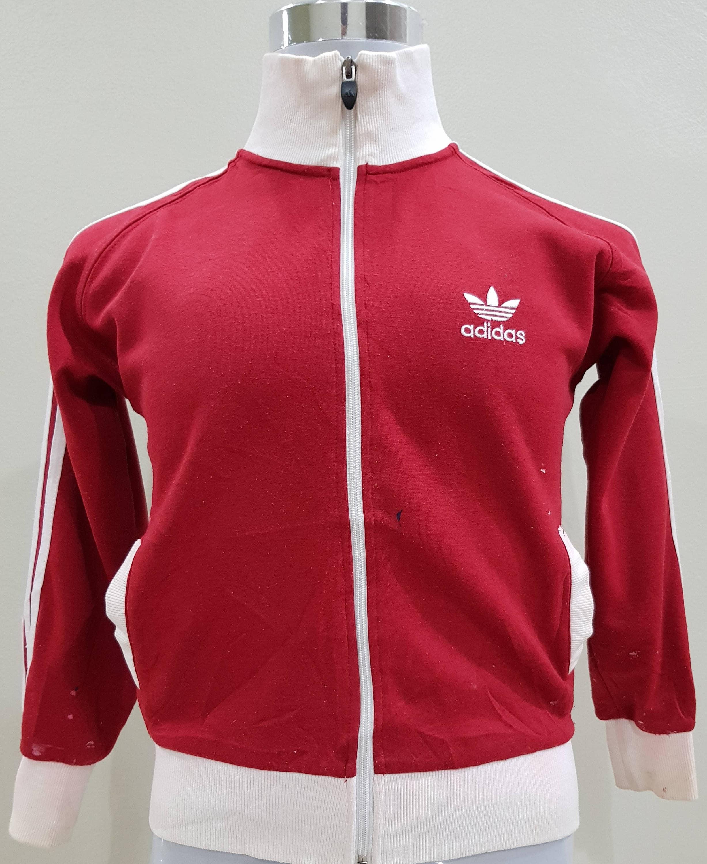 Vintage Adidas Trefoil Big Logo Spell Out White Colour Sweatshirt Casual Adult Unisex Wear (B12) NxHNc
