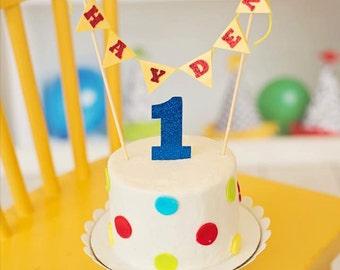 Name Banner Cake Topper, custom cake topper, Cake Flags, Cake topper set