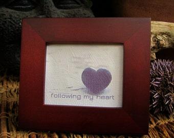 Framed motivational quote | inspirational mini art | desk art decor | mindful art | small canvas art | giclee canvas quote | friend art gift