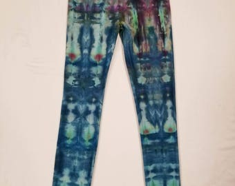 Funky Tie Dye Womens Legging size Large L096