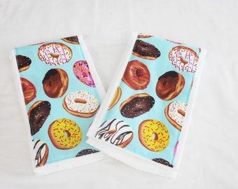 Donuts Burp Cloths - Set of 2
