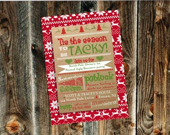 Ugly Sweater Christmas Party Invitation- Print Your Own