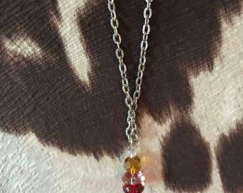 Colorful rain drop necklace
