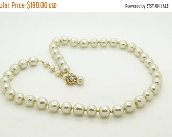 ON SALE Lovely Miriam Haskell Large Glass Pearl Classic Necklace