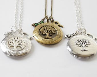 Tree Locket, Family Tree locket, Tree Necklace, Tree of Life Locket Necklace, Peas in a pod Necklace, Locket Necklace, Photo Locket Necklace