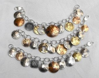 Send Us Your Coins Custom Charm Bracelet