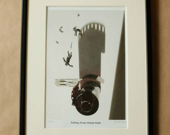Signed PRINT – falling from 35mm high