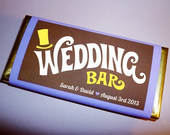 Wonka Bar wedding favor printable wedding invitation save the date candy bar wedding favors personalized candy wrapper template PDF