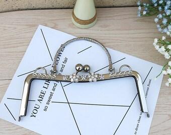 "1pc 23cm/9.05"" coin metal frame portable purse frame purse frame with handle bag frame handbag frame clutch bag frame PU011"