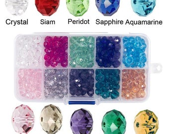 8mm Briolette Crystal Glass beads for jewelry making Faceted