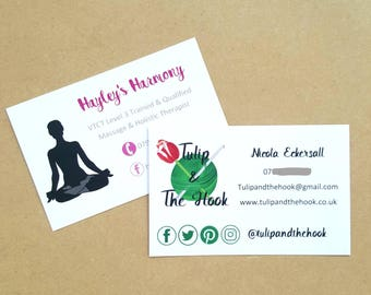 Business cards, single sided. Business calling cards, 350gsm Design included