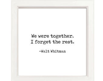 Walt Whitman Quote - Printable Picture