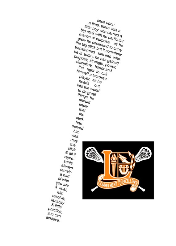 Custom LaCrosse Poem for Graduates Mens and Ladies