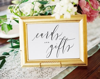 Cards and Gift Sign, Wedding Signs, Wedding Cards, Sign For Weddings