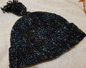Crochet Toddler/Child Hat With Tassel