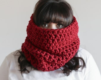 Chunky Cowl Oversized Scarf Hood Warmer | THE LOUTH in Tinsel