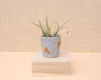Ceramic Air Planter / Speckled Ceramic Planter for Cactus / Mini Succulent Planter