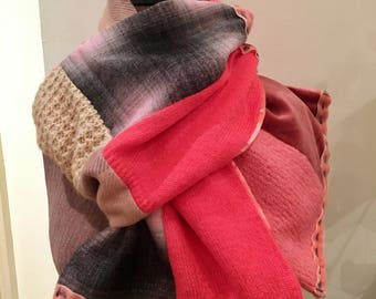 Handmade Upcycled Patchwork Scarf