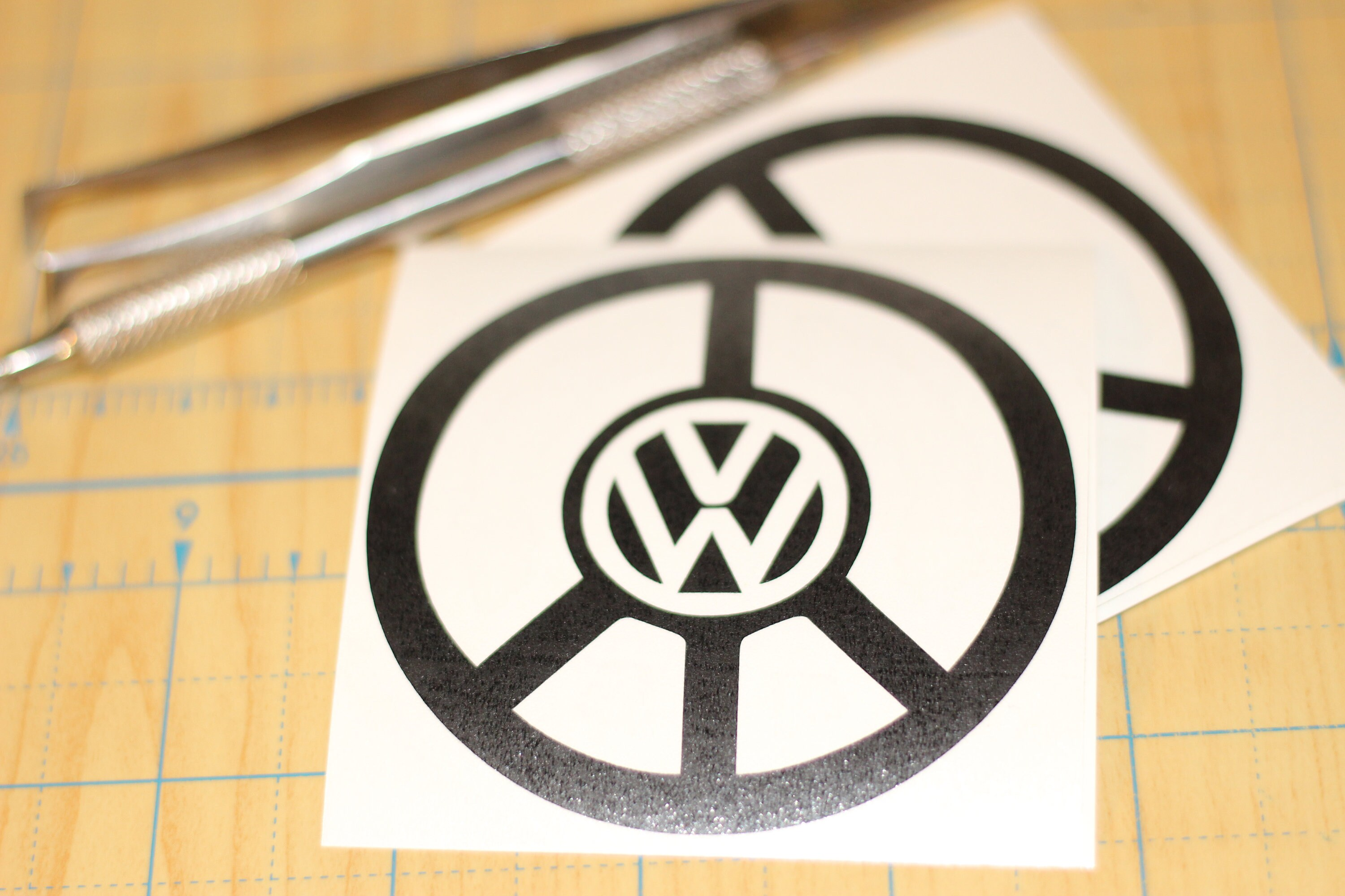 Vw Peace Sign Decal Volkswagen In A Peace Symbol Decal