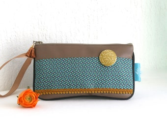 Popsy leatherette cover and Collection Mulino blue cotton