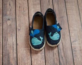 Whale Tiny Toms - Hand Painted Tiny Toms