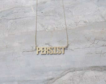 PERSIST Necklace in Recycled Silver and Gold Plating