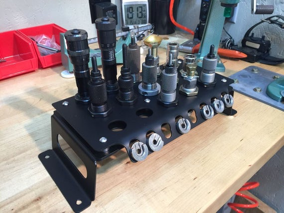 Reloading Die Shellholder Rack Bench Mounted Or Wall Mounted