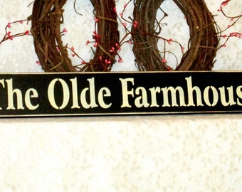 The Olde Farmhouse - Primitive Country Painted Wall Sign, Country decor, Wall Decor, Farm Sign, Farm Decor, Farmhouse decor, farmhouse sign