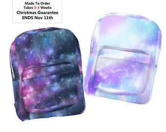 Pastel Galaxy Backpack Space Backpack Pastel Universe *MTO, Month*