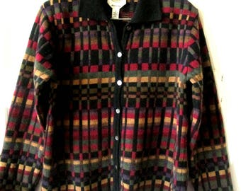 Talbots Wool Cardigan Sweater Made in Italy