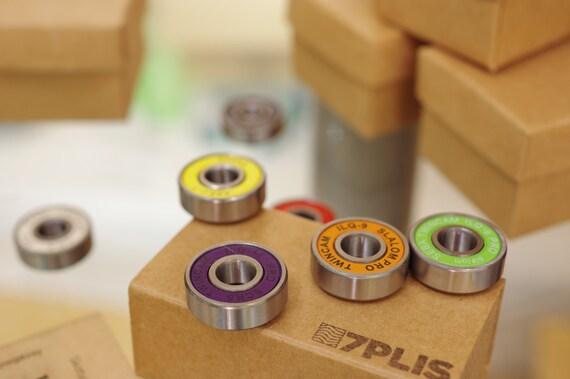Magnets made from SKATEBOARDS bearings green red black gray blue white HANDMADE