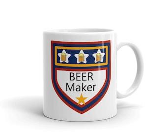 Beer Mug, Beer maker mug, Brew mug, Brewery mug, Gift for beer maker
