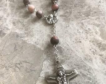 Handmade Auto Rosary, 1 Decade Rosary, Catholic Rosary
