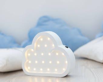 Kids room Night Light cloud Marquee light Battery operated Cloud Marquee Light Cloud Light Cloud Night Light Cloud LED Cloud Nursery