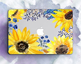 Sunflowers Macbook Pro 13 Case Macbook Air 13 Case Macbook 12 Case Macbook Pro 15 Case Flowers Macbook 13 Case Sunflower Macbook 13 Air Case