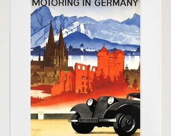 German Travel Art Germany Poster Print Vintage Home Decor (ZT202)
