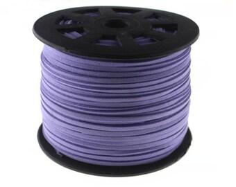 20Yds 3mm Violet Purple Faux Leather Suede Cord