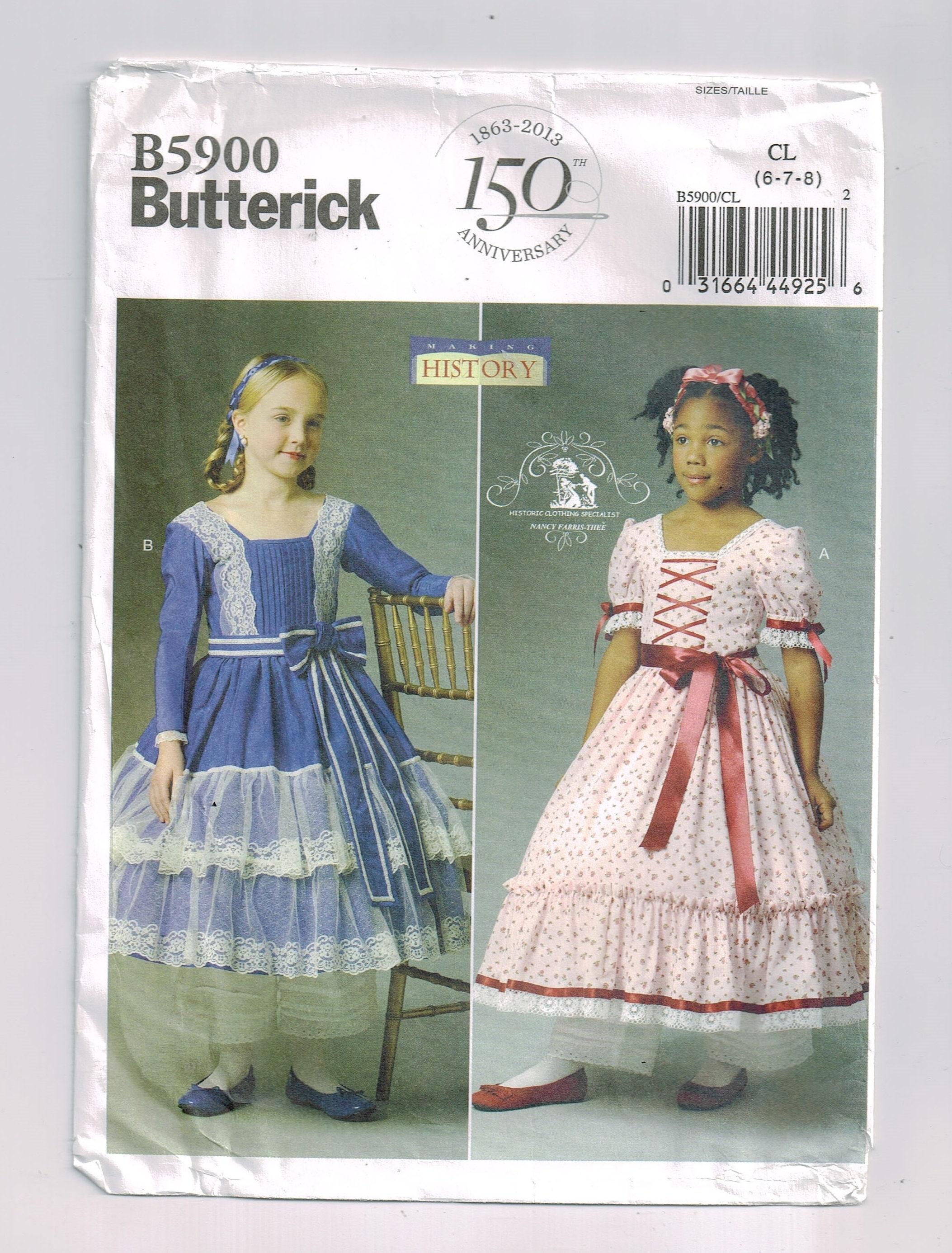 Southern belle Civil War era child\'s dress Colonial