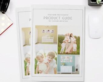 Studio Product Guide, Photography Magazine Template, Photography Marketing, Photography Pricing Guide - SPG101