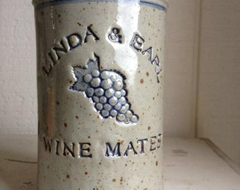 Personalized Stoneware Wine Cooler
