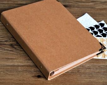 80 Pages Blank Kraft Photo Album/Ring Binder Photo album/Scrapbook Album/Wedding Guest Book/Wedding scrapbook Album/