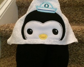 Captain Penguin Hooded Towel