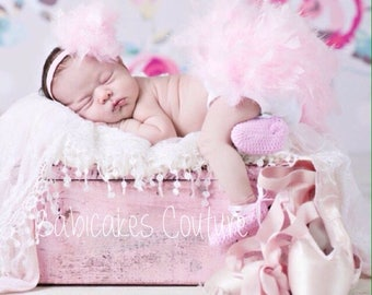 Pink Easter Feather Diaper Cover & Headband, The ORIGINAL Pink Feather Bloomer, Pink Feather Tutu, Newborn Photo Outfit, Babys 1st Easter