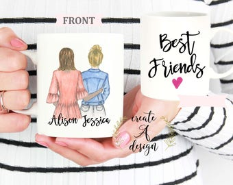 Personalized Friend Gift, Valentine's Day Gift, Best Friend Gift, Gifts for her, Customized gift for friend, Bridesmaids Gift, Custom mug