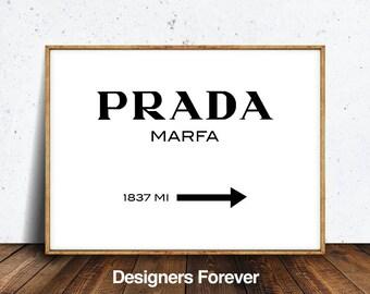 prada sign, prada print, prada decor, prada art, beauty prints, prada marfa, prada marfa art, prada marfa print, prada marfa sign, prada